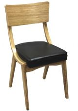 Ben-Kim Wooden Natural Oak with Upholstered Seat